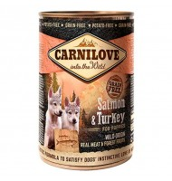 CARNILOVE WILD MEAT SALMON AND TURKEY 400 G.