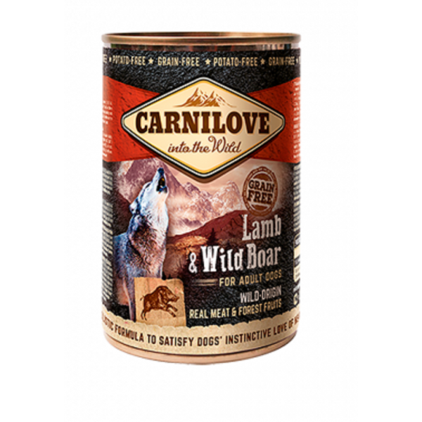 CARNILOVE WILD MEAT LAMB AND WILD BOAR 400 G