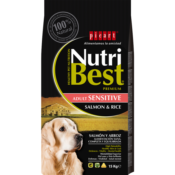 NUTRIBEST DOG SENZITIVE SALMON & RICE 15KG