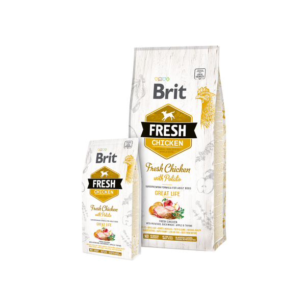 BRIT FRESH CHICKEN AND POTATO ADULT