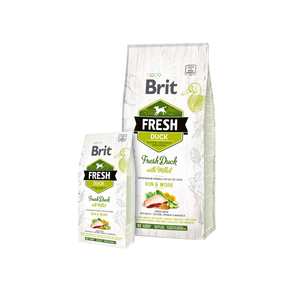 BRIT FRESH DUCK AND MILLET ACTIVE