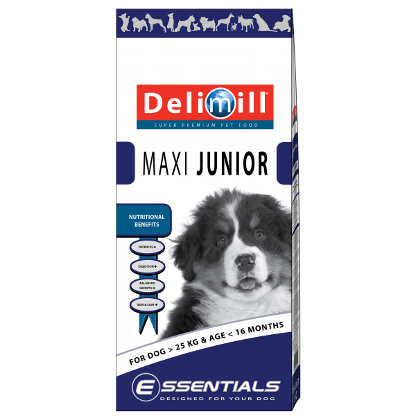 DELIMILL ESSENTIALS MAXI JUNIOR 15 KG.