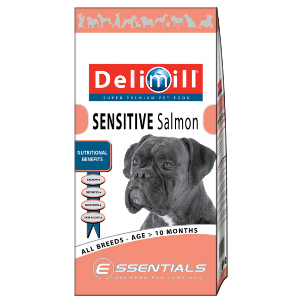 DELIMILL ESSENTIALS SENZITIVE SALMON 15 KG.