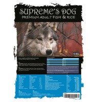 SUPREME'S DOG PREMIUM FISH & RICE 10 KG.