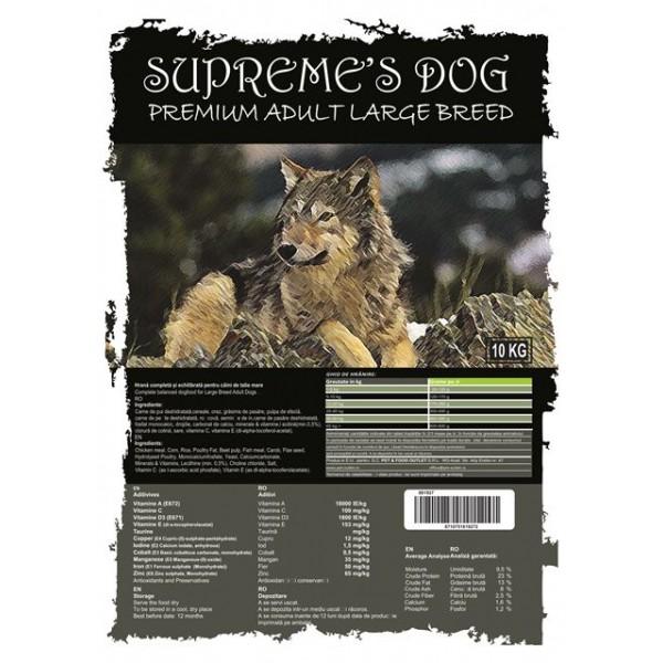 SUPREME'S DOG PREMIUM ADULT LARGE BREED 10 KG.