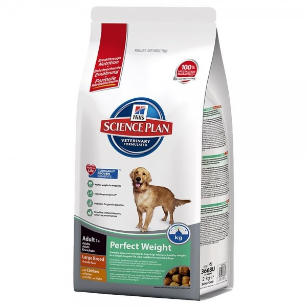 HILL'S Science Plan™ Canine Adult Perfect Weight™ Large Breed with Chicken 12 Kg.