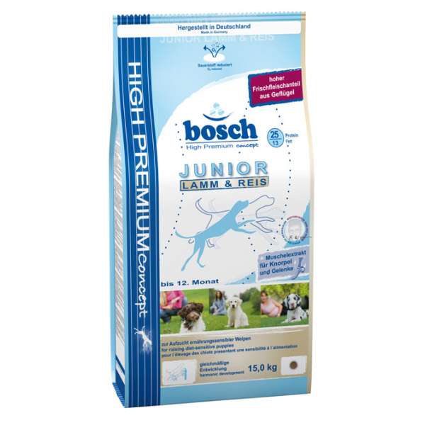 BOSCH HP JUNIOR LAMB & RICE 15 KG.