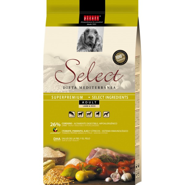 SELECT ADULT MIEL&OREZ 15 KG