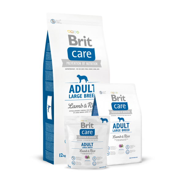 BRIT CARE ADULT LARGE BREED LAMB AND RICE 12 KG.
