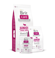 BRIT CARE JUNIOR LARGE BREED LAMB AND RICE 12 KG.