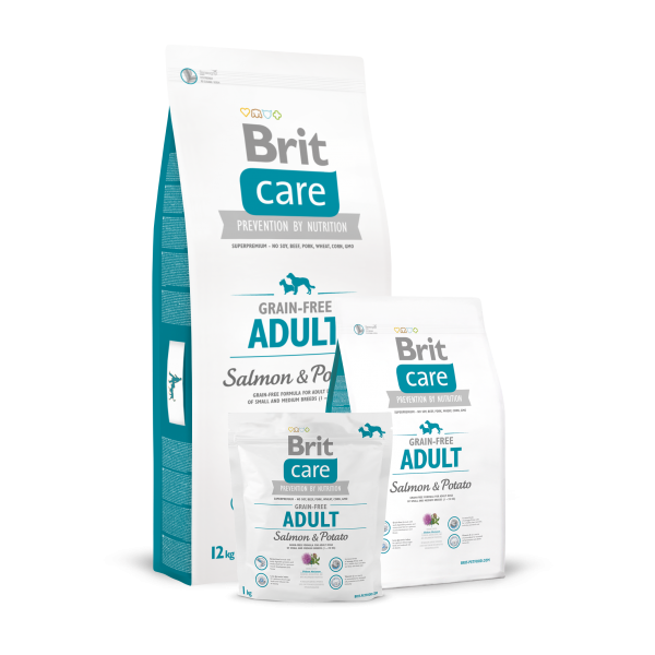 BRIT CARE GRAIN FREE ADULT SALMON AND POTATO