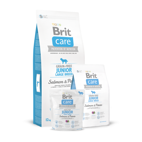 BRIT CARE GRAIN FREE JUNIOR LARGE BREED SALMON AND POTATO