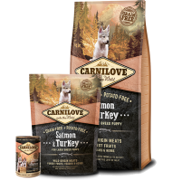 CARNILOVE SALMON AND TURKEY LARGE BREED PUPPY