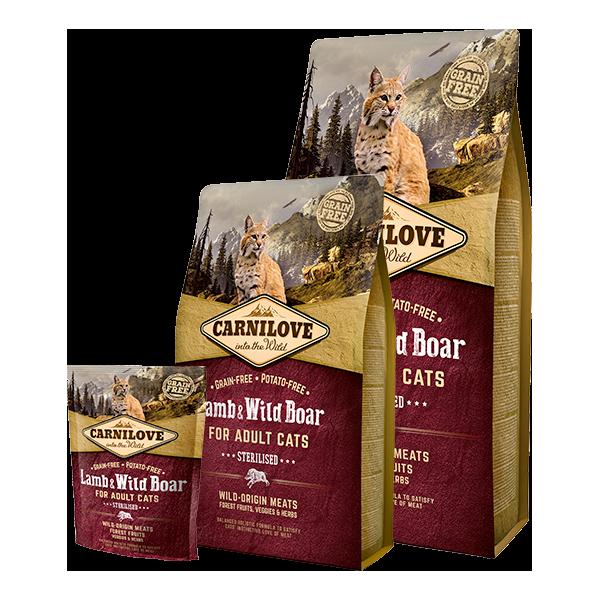 CARNILOVE LAMB AND WILD BOAR CATS STERILISED