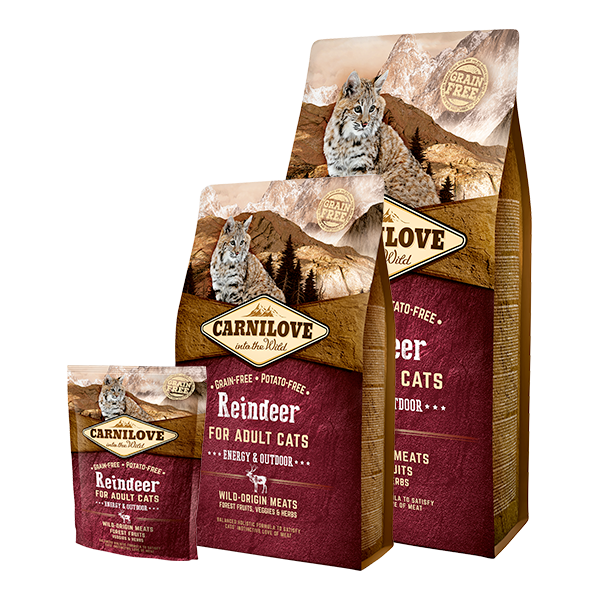 CARNILOVE RAINDEER CATS ENERGY AND OUTDOOR