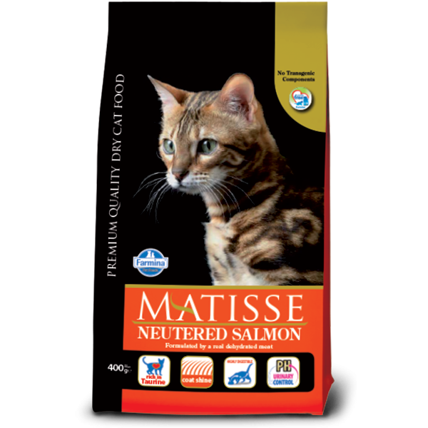 MATISSE NEUTERED SALMON 10 KG.