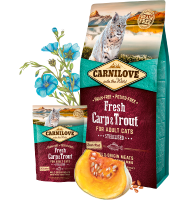 CARNILOVE FRESH CARP & TROUT FOR ADULT STERILISED CATS