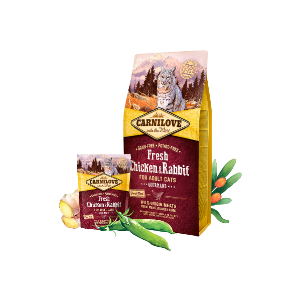 CARNILOVE FRESH CHICKEN AND RABBIT FOR ADULT CATS