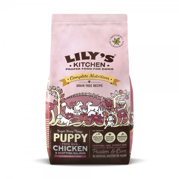 LILY'S KITCHEN FOR DOGS COMPLETE NUTRITION PUPPY CHICKEN & SCOTTISH SALMON