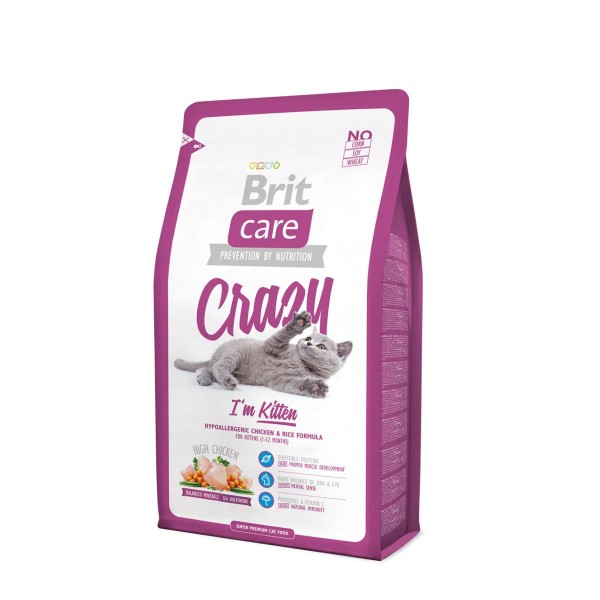 BRIT CARE CAT CRAZY KITTEN 2 KG.