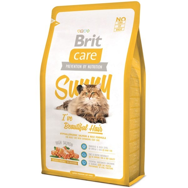 BRIT CARE CAT SUNNY BEAUTIFUL HAIR  2 KG.