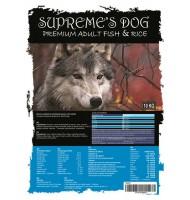 SUPREME'S DOG PREMIUM FISH & RICE 10 KG.