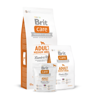 BRIT CARE ADULT MEDIUM BREED LAMB AND RICE