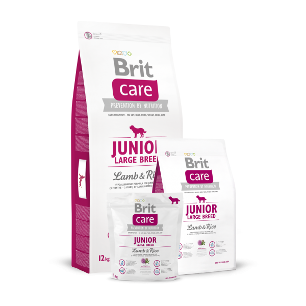 BRIT CARE JUNIOR LARGE BREED LAMB AND RICE