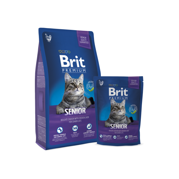 BRIT PREMIUM CAT SENIOR 8 KG.
