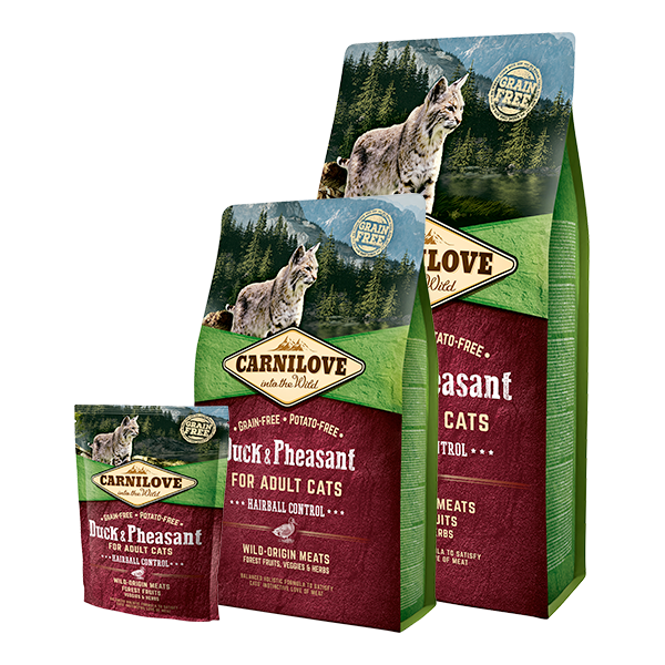 CARNILOVE CAT DUCK AND PHEASANT HAIRBALL CONTROL